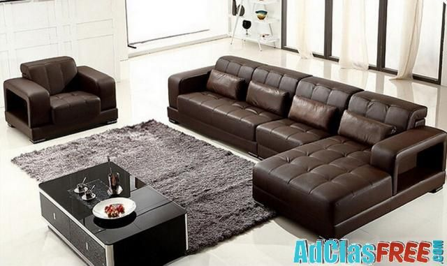 100% genuine leather sofas for living room