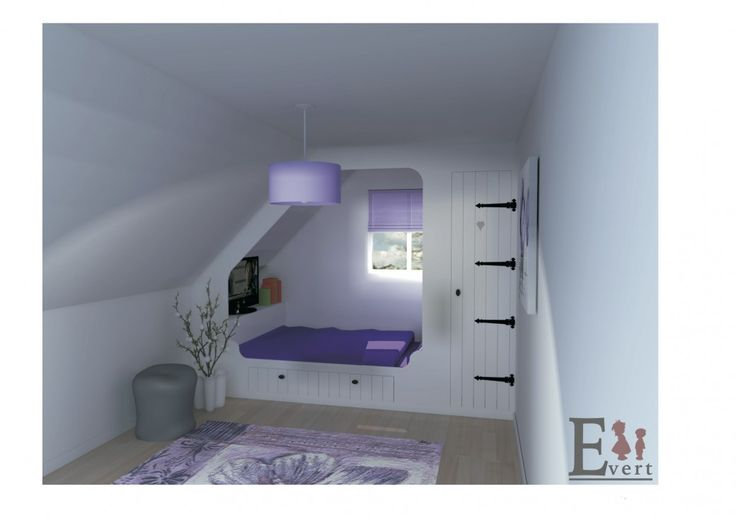 Meer dan 1000 idee n over kleine slaapkamer op zolder op pinterest schuin plafond slaapkamer - Slaapkamer van een meisje ...