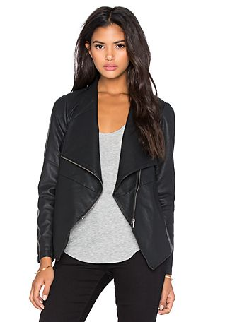BB Dakota Lander Drapey Front Jacket in Black | REVOLVE