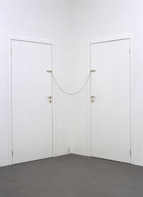 """Powerless Structures, Fig. 122"" by Michael Elmgreen & Ingar Dragset #SarahConnor #DickLaurent #2000"