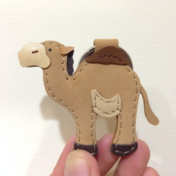 Alan the Camel leather keychain Light Brown by leatherprince 93411c6e3