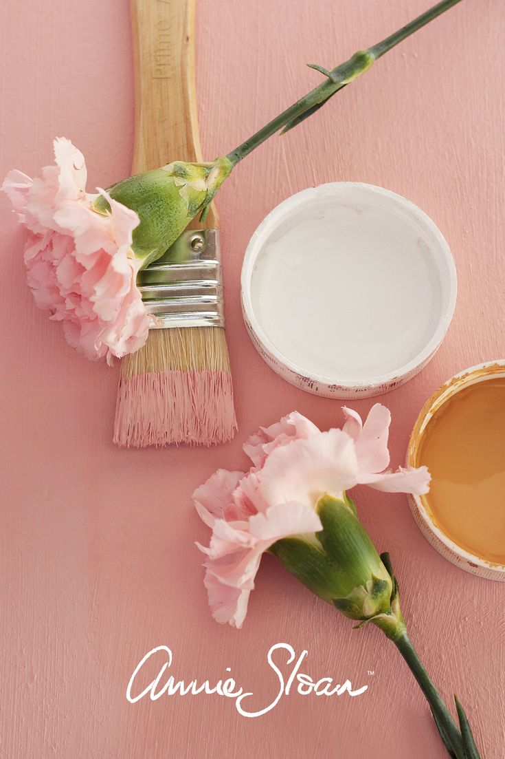 A whimsical pink paint colour mix made up of Arles, Emperor's Silk and Pure White from Annie Sloan