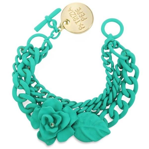 Patrizia Pepe Rhinestone Flower Chain Bracelet ($73) ❤ liked on Polyvore