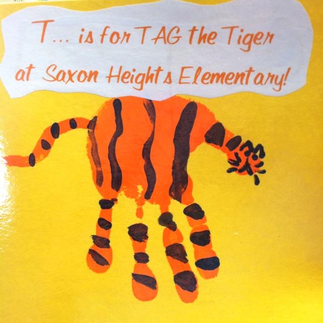 Hand Print Tiger Preschool Zoo Lion Tiger Pinterest
