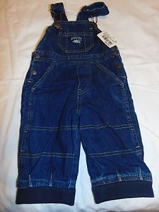 Roots Classic Unisex Denim Painter Overalls for Toddlers Avail in Size Sm, 2, 3