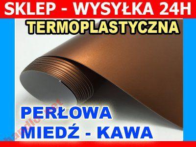 FOLIA OKLEINA perłowa MIEDŹ MIEDZIANA 152X10cm