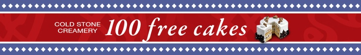 Enter to win a FREE Cake!    What's more delicious than a Cold Stone Cake? A FREE Cold Stone Cake! Win a FREE small round Signature Cake from ColdStoneCakes.com! Enter below for your chance to win. Only My Cold Stone Club members can enter.