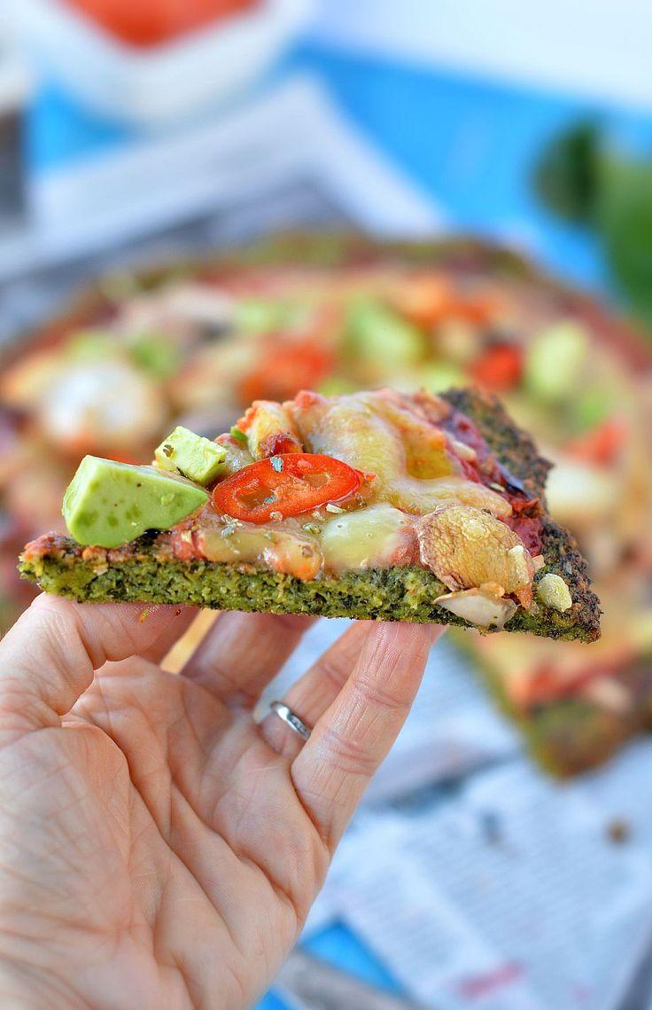 Kale pizza crust