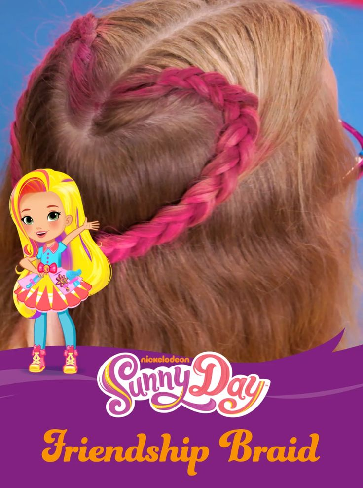 Learn how to recreate this hairstyle on your kid! Sunny Day, the new series on Nickelodeon, teaches kids that confidence and friendship are always in style! This Valentine's Day and beyond, parents can get inspiration from Sunny Day when doing their kids' hair! This pink heart braided kids hairstyle is easy to recreate and will be a showstopper on any child! Find the latest episodes at Nick Jr. On Demand.
