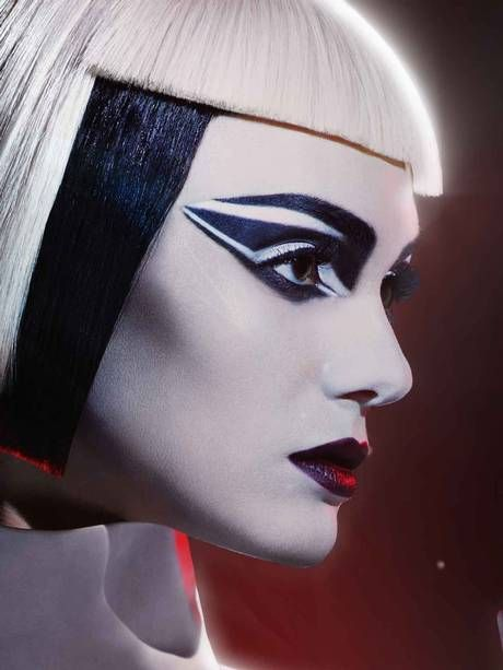 Storm Trooper inspired makeup look by Max Factor for Star Wars