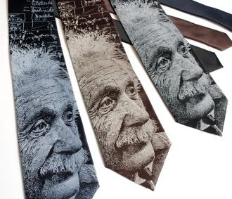 Skinny tie - Einstein Necktie, a great Valentines Gift!
