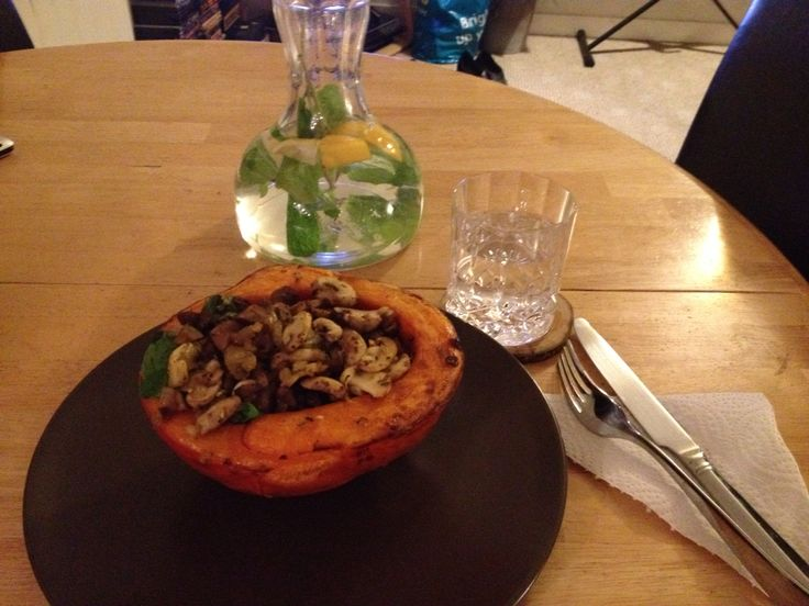 Mushroom stuffed pumpkin (Recipe by Reboot with Joe)