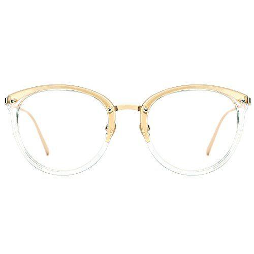 8f0311152e92 Slocyclub Classic Retro Round Metal Eyewear Frame Optical Eyeglasses Clear  Lens Rx-able Glasses
