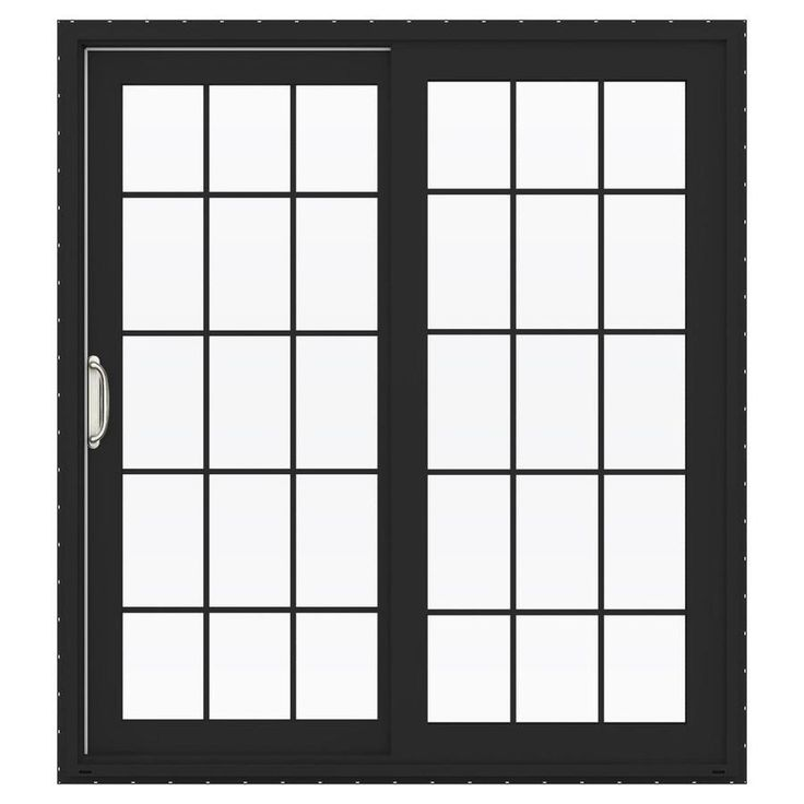 Jeld Wen V 4500 71 5 In 10 Lite Glass Mesa Red Vinyl Sliding Patio Door With Screen Lowoljw155900108 Sliding Patio Doors Vinyl Sliding Patio Door Patio Doors