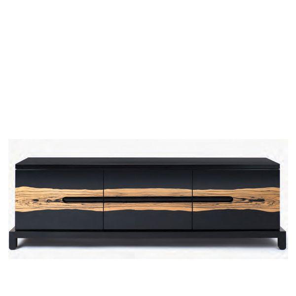 Modern sideboard | black sideboard with amazing wood details |www.bocadolobo.com #modernsideboard #sideboardideas