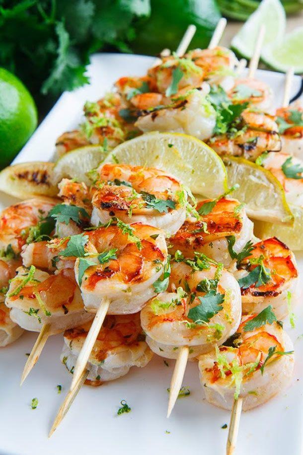 Espetinho de Camarão/ shrimp skewer
