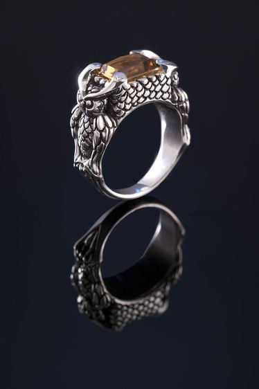 Steph Lusted : Royal Owl Ring