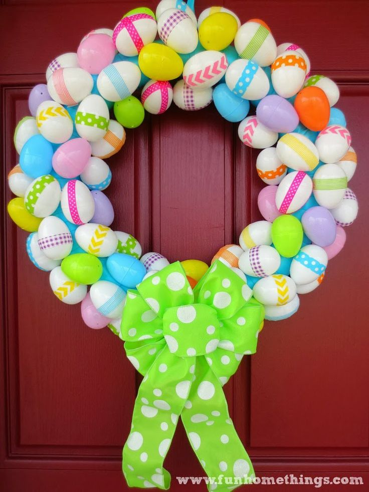 Fun Home Things: Washi Tape Easter Egg Wreath