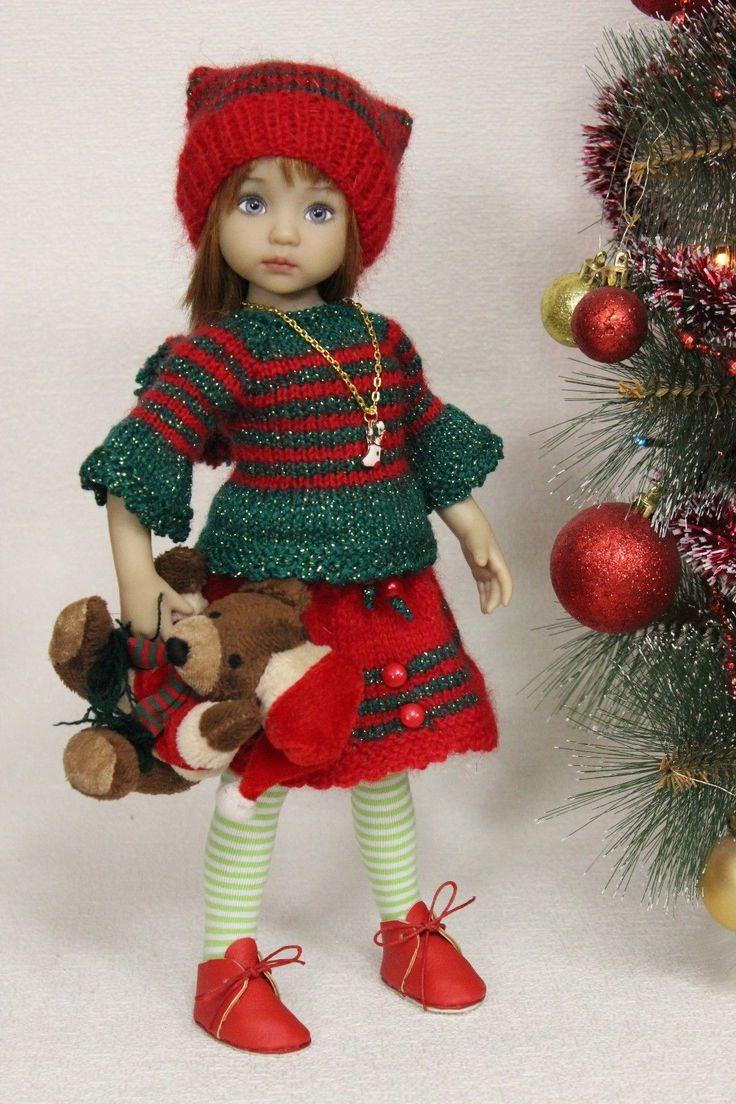 """Наряд новогодний и мишка, для работы 13 """"Дианна Effner Little darling.,"""