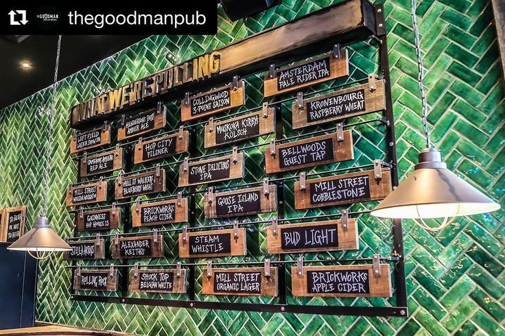 #Repost @thegoodmanpub  Find these awesome green handcrafted ceramic tiles at The Goodman Pub Toronto. Tiles supplied by @MarbleTrend