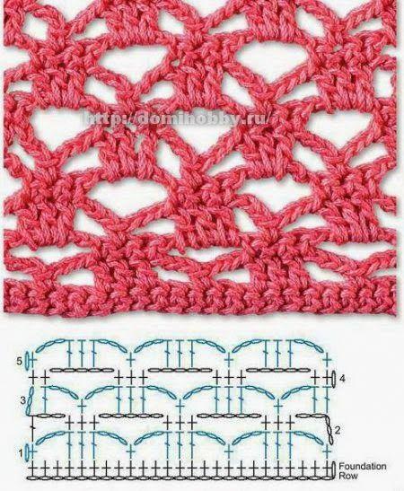 Las mejores puntadas crochet para tu colección * 25 motivos * | Patrones para Crochet