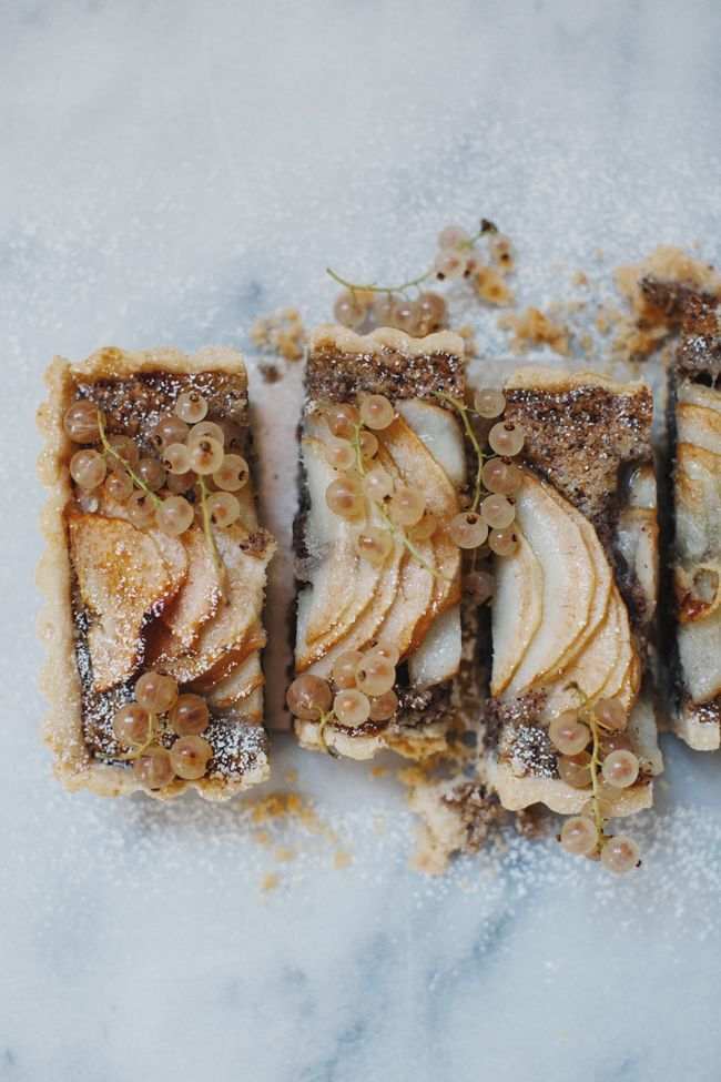 pear and hazelnut frangipane tart | cannelle et vanille.