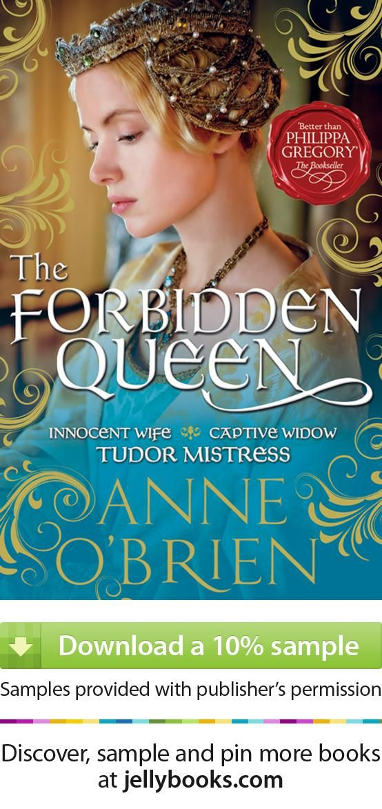 3 of 10 striking romance book covers from jellybooks.com: Forbidden Queen by Anne OBrien - Download a free ebook sample and give it a try! Don't forget to share it, too.