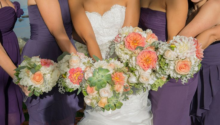 Karon & Steve's Peach & Purple Country Club Wedding | Wedding Colors