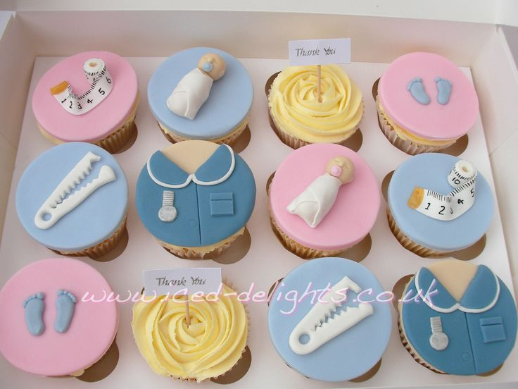 Midwife Cupcakes By Www Iced Delights Co Uk Cheshire