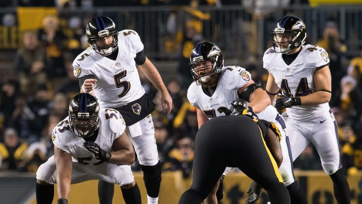 Pro Football Focus ranks the Ravens offensive line as the league's 10th worst