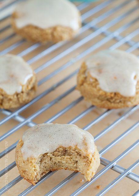 Paleo Pumpkin Cookies with vanilla frosting