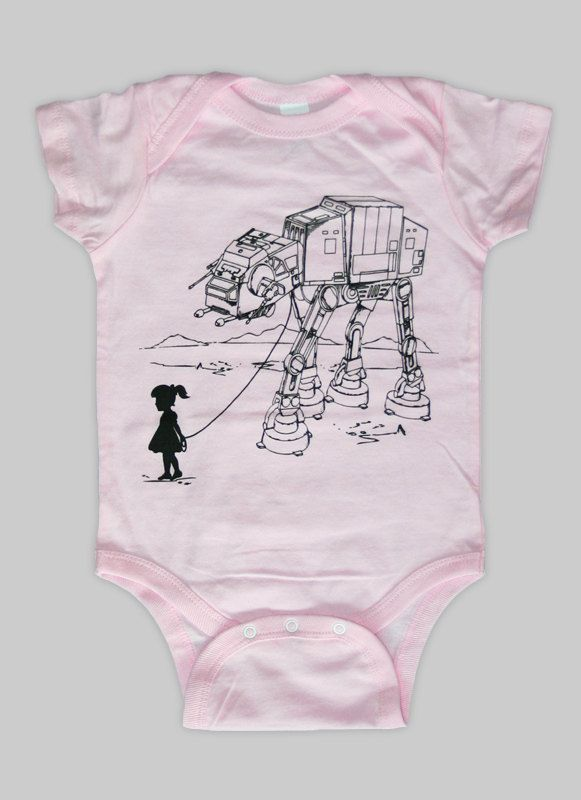 My Star Wars AT-AT Pet - Baby Onesie Bodysuit (Star Wars Baby Clothing). $15.00, via Etsy.