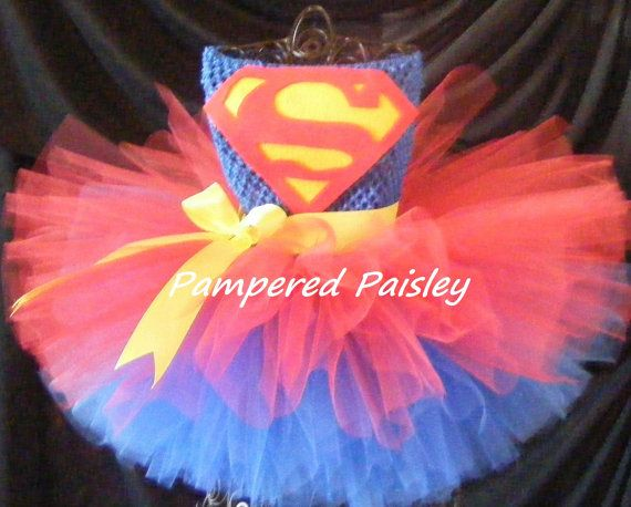 Superman inspired tutu dress - Superman girl costume - Halloween ideas size newborn to 4t - costume on Etsy, $39.95  @amiliakelly