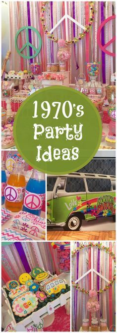 Give peace a chance at this hippie chic 1970's party! See more party ideas at CatchMyParty.com!