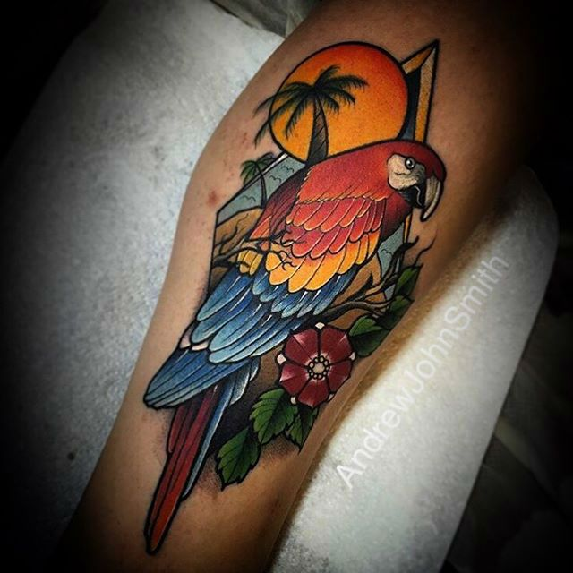 Parrot Tropical Tattoo | Best Tattoo Ideas Gallery