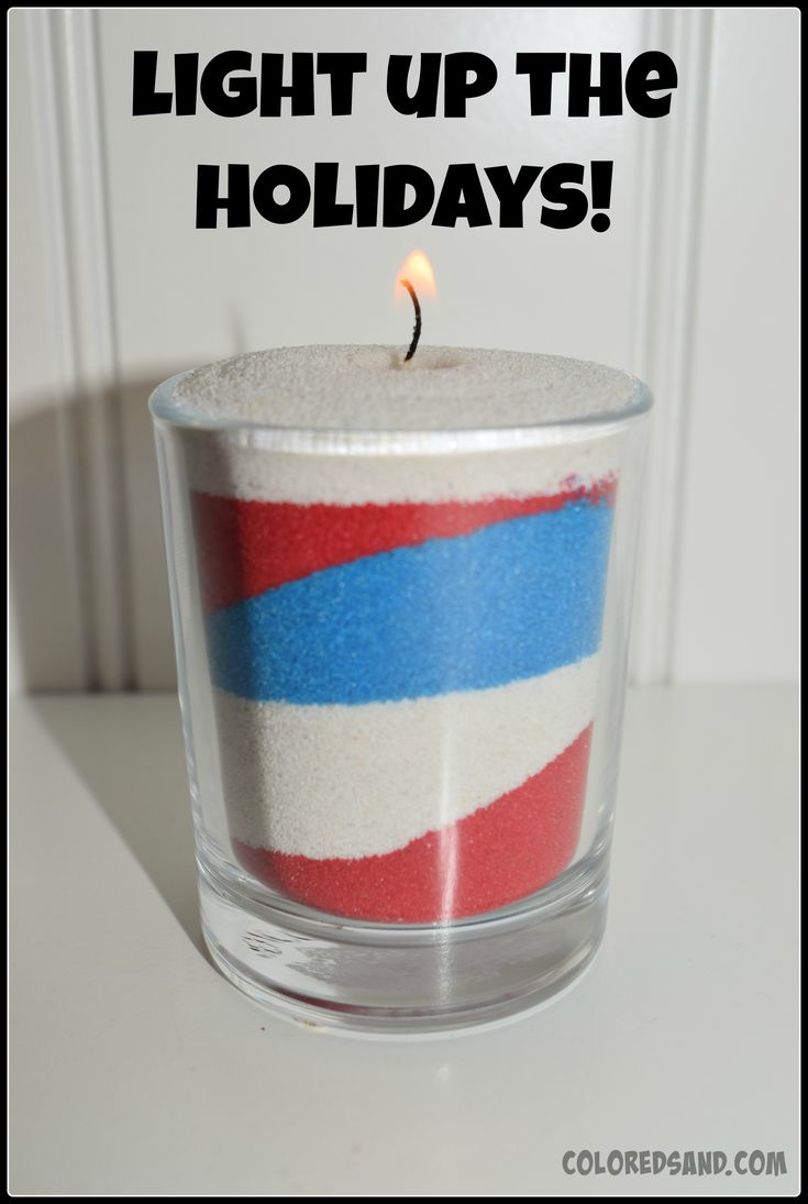 EASY, FUN, & FESTIVE PATRIOTIC TABLE DECOR4th of July is just around the corner and I had a ton of empty votive candle holders leftover from a baby shower. They are about $.50 each at your local store. I decided to make some cute patriotic sand art table decorations using some of my daughter's sand art supplies. You only need a spoon, colored art sand, tea lights, and little glass candle holders. You can make these for any holiday theme. Halloween, Easter, Baby Showers, Christmas etc. T...