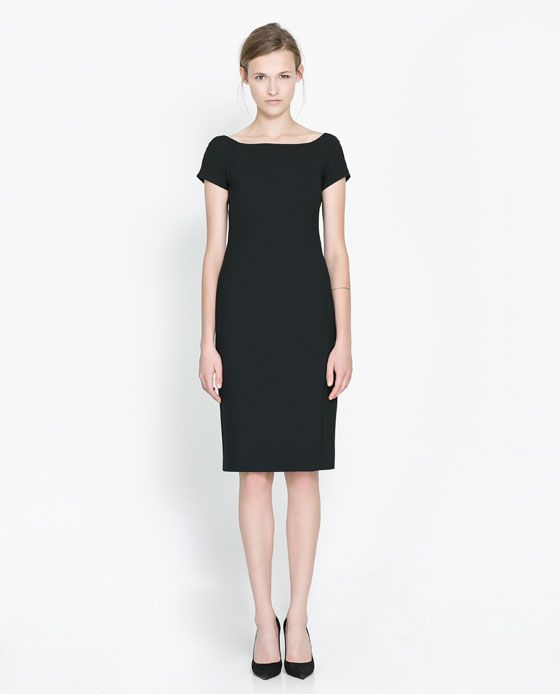 New Zara Dress With Zips In Black  Lyst