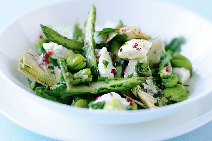 Ricotta Asparagus and Broad Bean Salad