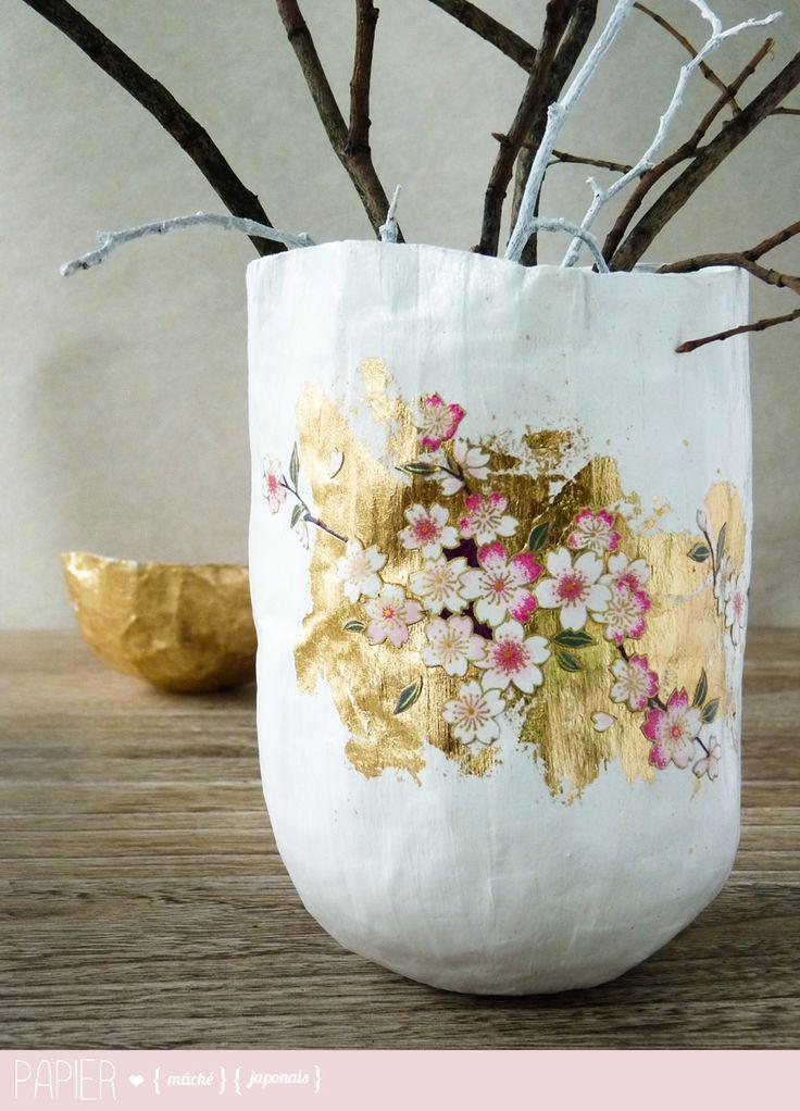 papier maché avec papier japonnais - My little fabric blog
