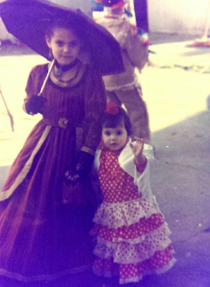 Disfraz dama antigua y sevillana  #disfraz #carnaval #costume #makeup #sevillana #damaantigua #niñas