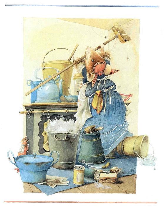 Marjolein Bastin  - Vera cleaning spider webs