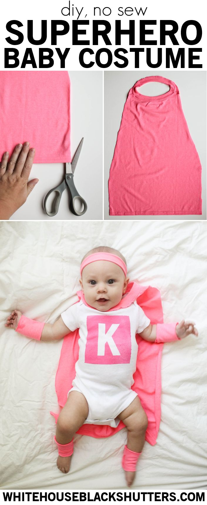 Make a no-sew DIY superhero costume for your little one! MichaelsMakers White House Black Shutters