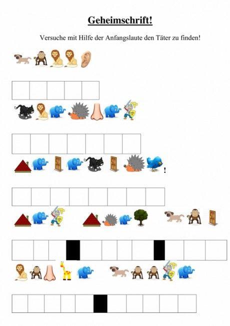 Spiel: Detektiv-Rätsel mit Anlauten Mehr