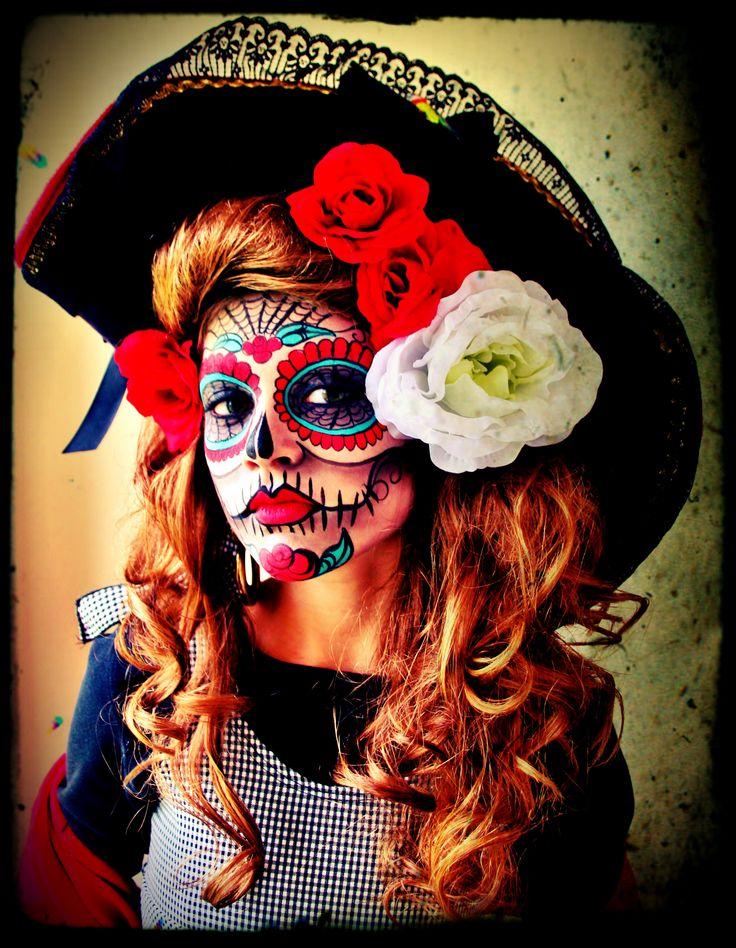Handpainted Sugar Skull Face! La Catrina Umylia...my super ...