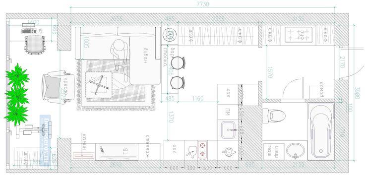 Планировка квартиры студии 30 кв.м. с фото | Денис Серов