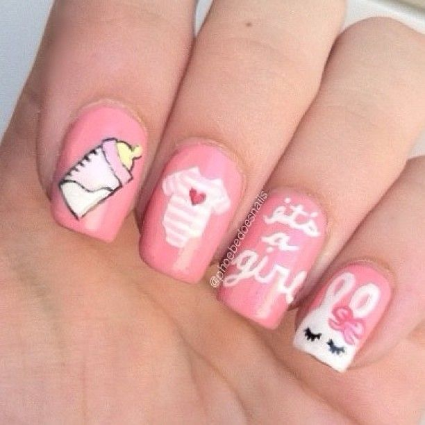 baby girl by phoebedoesnails  #nail #nails #nailart