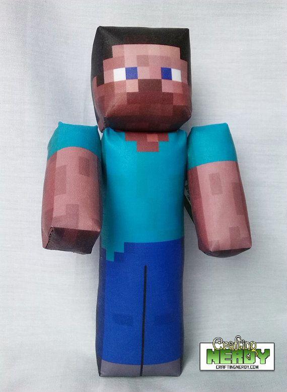 Cool Minecraft Toys : Plush minecraft inspired steve toy by craftingnerdy on