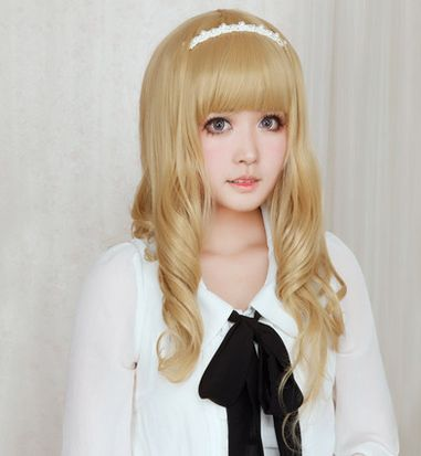 Lolita Curl K-ON Cosplay Gold Wig SP152569