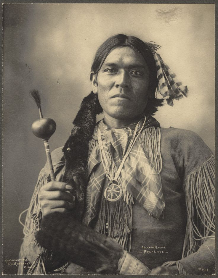 A Native American Map%0A Portrait of Yellow Magpie  Arapaho Indian Attendee of the      Indian  Congress by Frank A