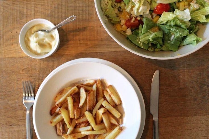 Huisgemaakte mayonaise en ovenfrietjes
